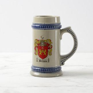 Brennan Coat of Arms Stein Brennan Family Crest Mug