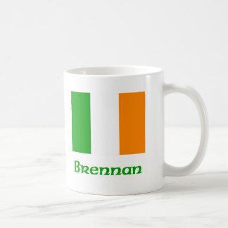 Brennan Irish Flag Coffee Mug