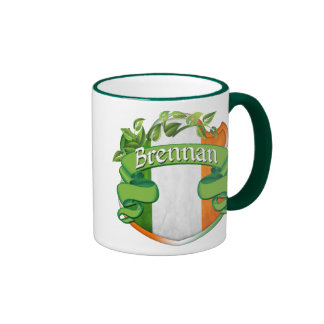 Brennan Irish Shield Ringer Mug