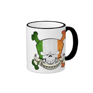 Brennan Irish Skull Coffee Mugs