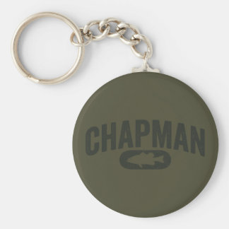Brent Chapman Fishing Logo - Vintage Key Chain