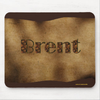 BRENT Personalised Parchment-effect Mousemat Mouse Pads