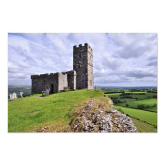 Brentor Church Dartmoor National Park - Devon Photo Print
