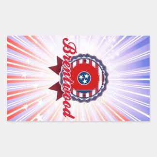 Brentwood TN Rectangle Sticker
