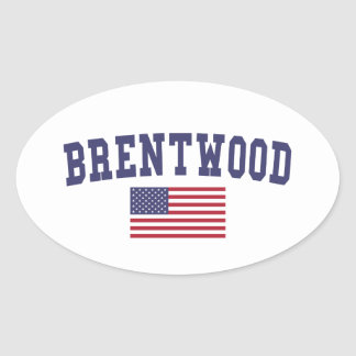 Brentwood TN US Flag Oval Sticker