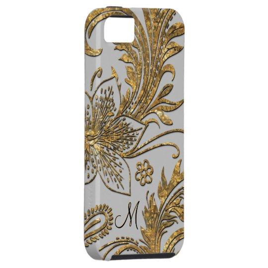 Breselcoucant Dove  Elegant Floral Monogram iPhone 5 Covers
