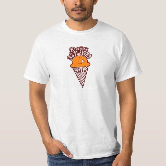 Bressler's 33 Flavours Ice Cream Cone Logo T-Shirt
