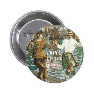 Brest á Londres 18 heurs 6 Cm Round Badge