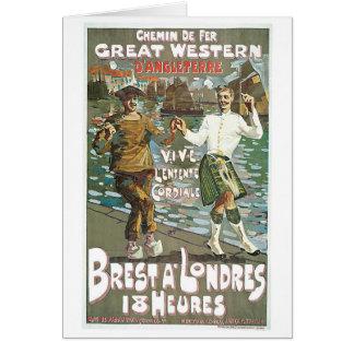 Brest á Londres 18 heurs Greeting Card
