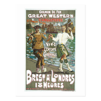 Brest á Londres 18 heurs Postcard