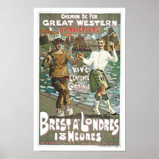 Brest á Londres 18 heurs Poster