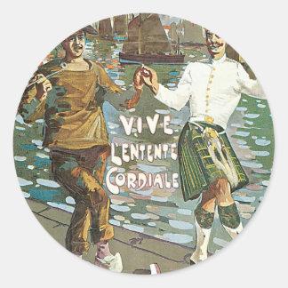 Brest á Londres 18 heurs Round Sticker