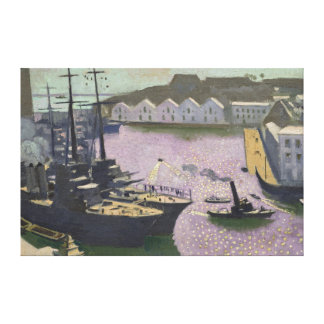 Brest Port, c.1932 Canvas Print