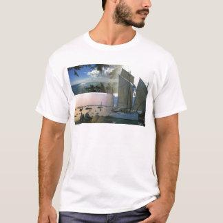 Breton boat  and rocky coast T-Shirt