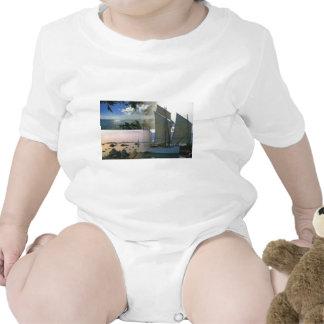 Breton boat  and rocky coast t-shirts