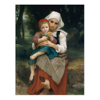 Breton Brother and Sister - William Bouguereau Post Cards