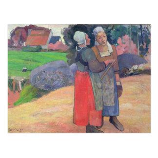 Breton Peasants, 1894 Postcard