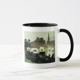 Breton Women Sitting at a Pardon Mug