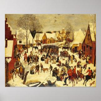 Breughal, winter scene, Lons le saunier musuem Poster