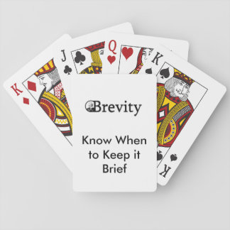 Brevity Playing Cards