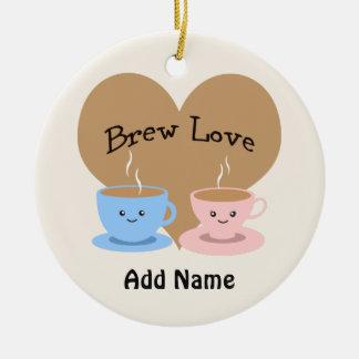 Brew Love! Coffee Mugs Christmas Ornament
