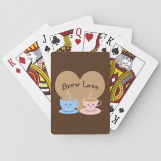 Brew Love! Coffee Mugs Playing Cards