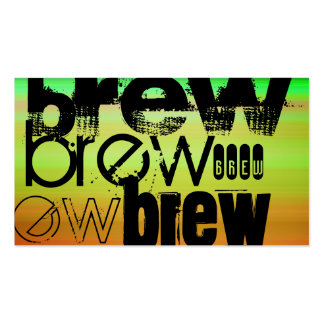 Brew; Vibrant Green, Orange, & Yellow Pack Of Standard Business Cards
