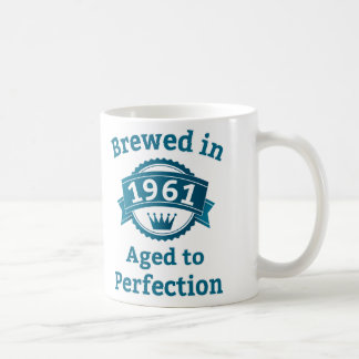 Brewed in 1961 Aged to Perfection Basic White Mug