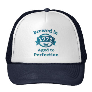Brewed in 1971 Aged to Perfection Mesh Hats
