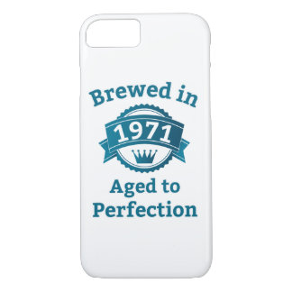 Brewed in 1971 Aged to Perfection iPhone 8/7 Case