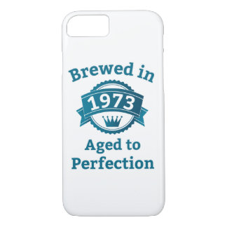 Brewed in 1973 Aged to Perfection iPhone 8/7 Case