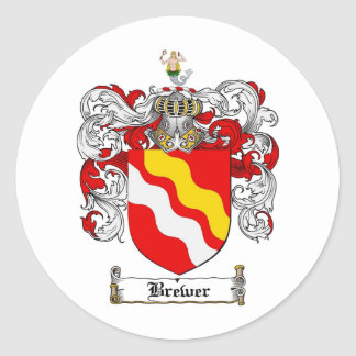 BREWER FAMILY CREST -  BREWER COAT OF ARMS STICKER