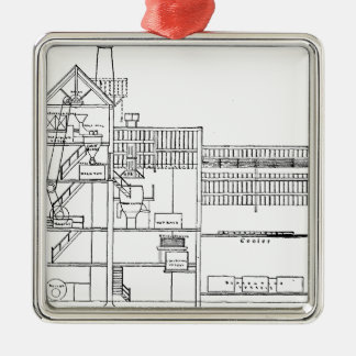 Brewery Blueprint Christmas Ornament