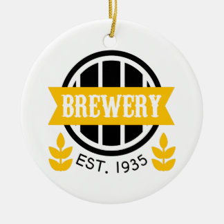 Brewery Logo Design Template Christmas Ornament