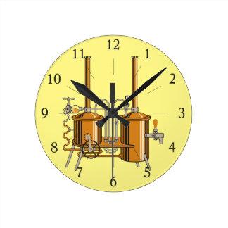 Brewery Round Clock