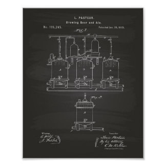 Brewing beer and ale 1873 Patent Art - Chalkboard Poster