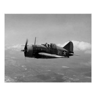 Brewster F2A Buffalo Poster