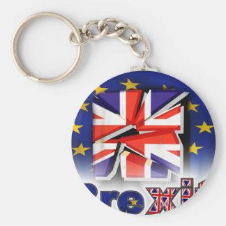 brexit basic round button key ring