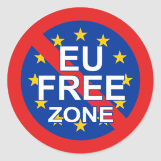 Brexit Classic Round Sticker