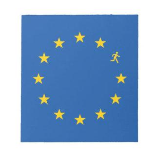 Brexit EU flag Notepad