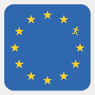 Brexit EU flag Square Sticker