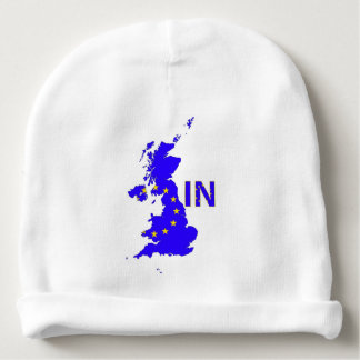 "BREXIT ""IN"" UNION JACK BABY BEANIE"
