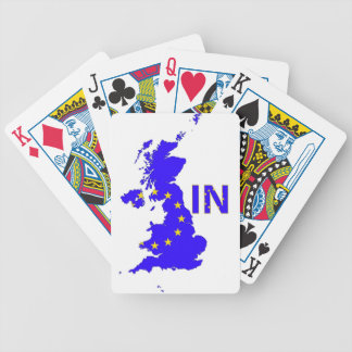 "BREXIT ""IN"" UNION JACK BICYCLE PLAYING CARDS"