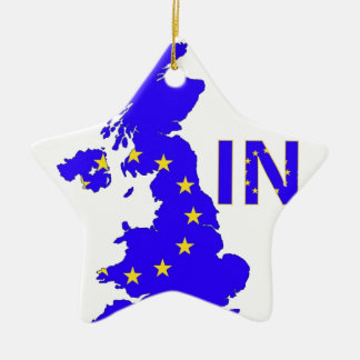 "BREXIT ""IN"" UNION JACK CHRISTMAS ORNAMENT"