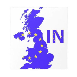 """BREXIT """"IN"""" UNION JACK NOTEPAD"""