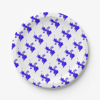 "BREXIT ""IN"" UNION JACK PAPER PLATE"