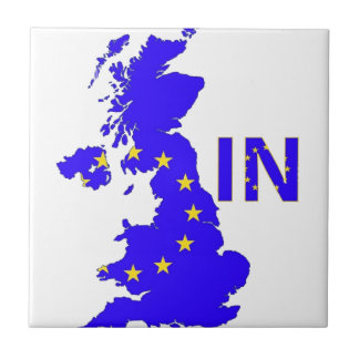 """BREXIT """"IN"""" UNION JACK SMALL SQUARE TILE"""