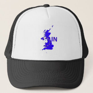 "BREXIT ""IN"" UNION JACK TRUCKER HAT"