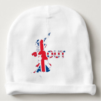 BREXIT OUT UNION JACK BABY BEANIE