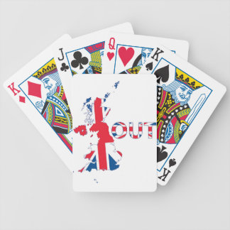 BREXIT OUT UNION JACK BICYCLE PLAYING CARDS
